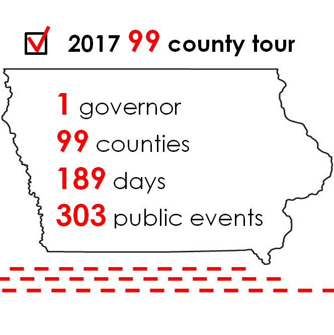 That's a wrap! Gov. Reynolds completes 99 county tour in under 200 days