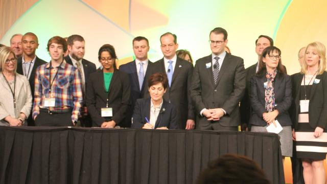The Gazette: Gov. Kim Reynolds signs legislation to boost post-high school training
